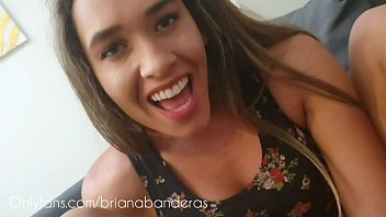 Lesbian footjob with dildo, feet licking - Briana Banderas