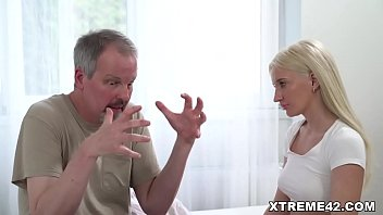 Old guy cheats on his wife with a younger blonde