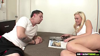 BrokenTeens - Molly Rae convinces her stepbrother to fuck her.