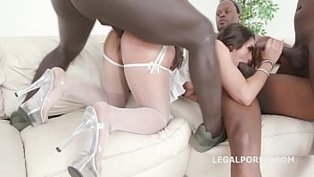 Interracial Fuck Slut Lilly Hall Gets Her Asshole Destroyed With 5 BBC DAP