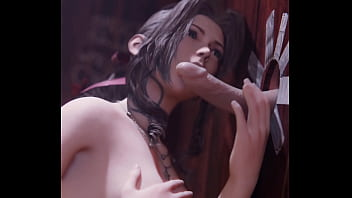 Final Fantasy Aerith blowjob gloryhole with Happy Ending