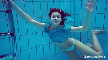 Bikini sports slip Flying panties underwater of marusia