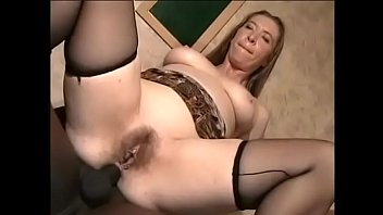 Cock hungry brunette has realized her devout wish to get her buns splitted with massive black pole