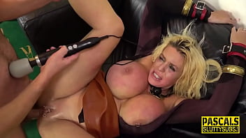 Whipped bound submissive milf with huge tits