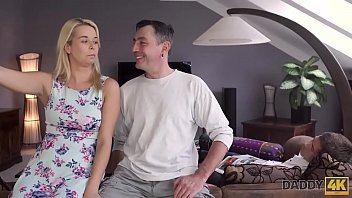 DADDY4K. Nikki tries cock of lovers father because wants experience 10 min