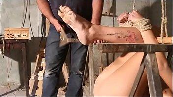 Luna in falaka and feet t.