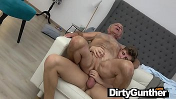 Old Gunther makes Young Stud Ejaculate too Early