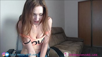 passionate web model makes three squirts on camera and spits on Tits