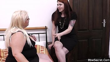 Cheating on wife with tattooed blonde BBW