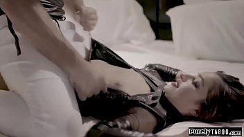 Teen sex robot throatfucked and is banged rough by a client