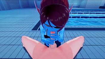 The Mermaid Undyne Gets Pov Fucked In The Pool, Creampie - Undertale Hentai.