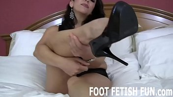 Fancy femdom - I want to feel your hot tongue on the bottom of my feet