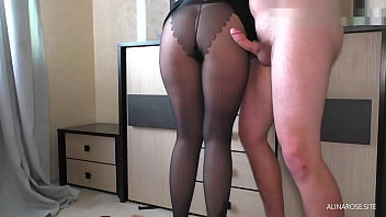 Quickly fucked StepSister and Cum on her Ass while she was going to class
