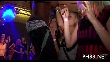 Lots of gangbang on dance floor
