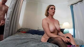 Peeping Stepson Gets Caught While Masturbating By Horny Stepmom