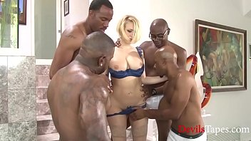 Mob hardcore - Kagney goes crazy on a mob of black cocks