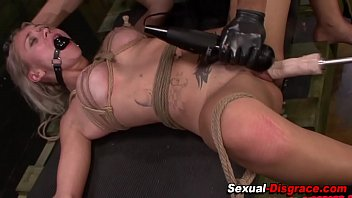 Rough bdsm slut toyed