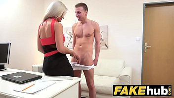 Female Agent Cum hungry horny agent gets fucked and swallows a big load preview image