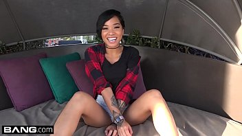 Honey Gold petite blasian babe quivers and cums 12 min