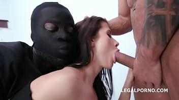 Masked Looters Vs Nicole Black Balls Deep Anal, Manhandle, Gapes, Facial GIO1323