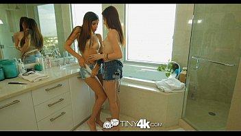 4K Tiny4K - Tiny teens Emma and Ava share a huge cock