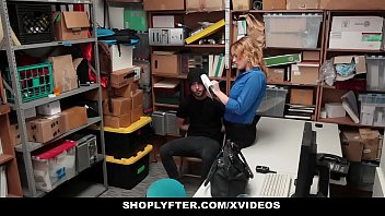 Shoplyfter - Hot MILF (Krissy Lynn) Dominates Young Thief For Stealing