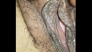 Close up moist pussy of my wife