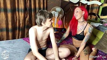 Virgin Boy Defloration Sex with German Redhead Hooker Teen