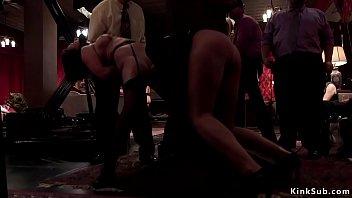 Bdsm how to flog - Senior sub teaches young slut at party