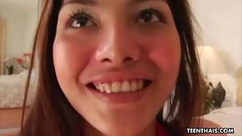 Thai teen slut with tight fuckholes, Jamaica is getting doublefucked