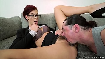 Glassed babe takes big dick - Shona River, Leslie Taylor