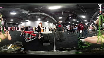 VR Video of Lady Lucy getting tied up and suspended at EXXXotica NJ 2018