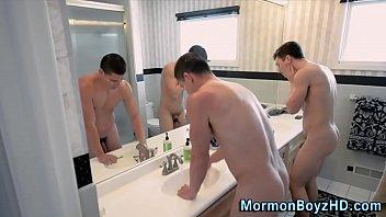 Taboo tugging mormon cums