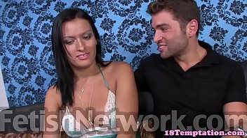 Taboo stepsis jizzed on tits after handjob