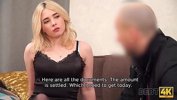 Debt4k. The loan makes teen hairdresser have sex with strange collector