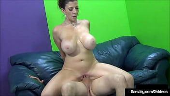 Pussy Leaking PAWG Sara Jay Cums While She Has A Cock Inside Her!