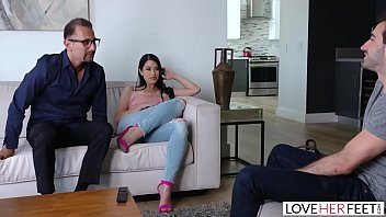 Loveherfeet - Sexy Black Haired Latina Has Her Feet Sucked While Being Fucked