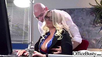 (julie cash) Horny Busty Office Girl Enjoy Hard Sex Action mov-18