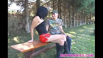 Shemale soleili - Skinny shemale cums in the mouht of her man