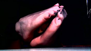 Nylon feet adult video tubes Sheer toes and wrinkled soles