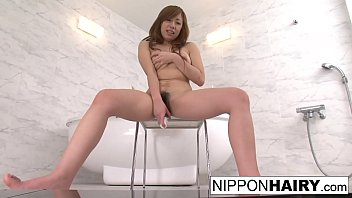 Nude hairy brunettes Cute japanese teen shaves her hairy pussy then masturbates