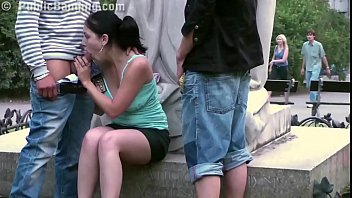 2 guys chubby girl sex A cute chubby girl fucked by a famous statue in the center of the city in public