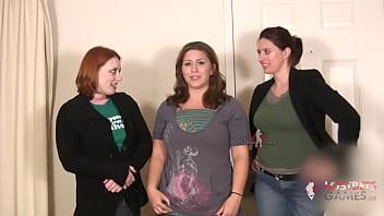 3 Busty Girls Play Strip Rock-Paper-Scissors