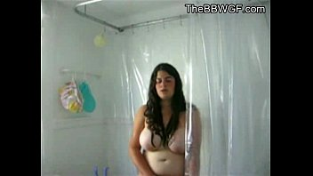 Chubby teens fat pussy Innocent fat chubby teen with hairy pussy taking a shower