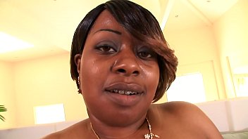 Ebony slut with a phat round ass Brownie Deluxxx gets her pussy pounded in doggy style position thumbnail