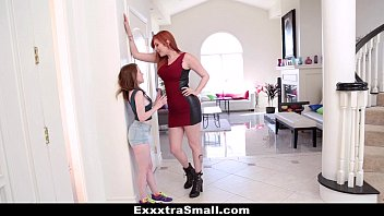 Skinnie teenie girls fucking Exxxtrasmall - teeny teen fucked with strap-on by tall busty lauren phillips