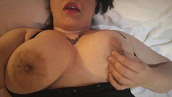 Tits play close up