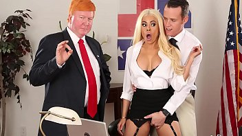 Stable Genius Watches As Luna Star Gets Her Pussy Grabbed & Fucked