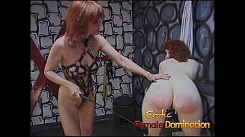 Rough dominatrix has her fun with a skinny pale slave girl-6