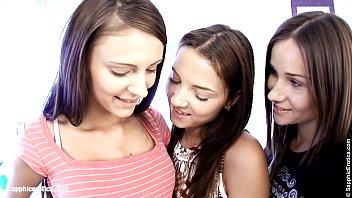 Teen Threesome by Sapphic Erotica - sensual lesbian sex scene with Ashlie and Ma